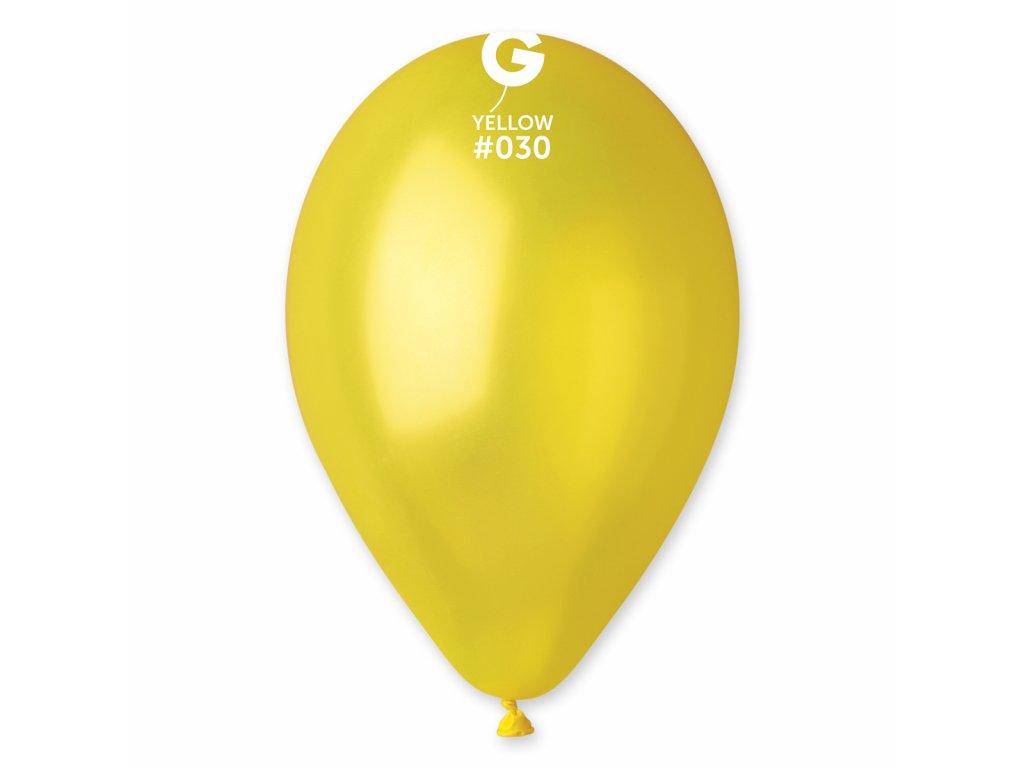 Balon metalic galben