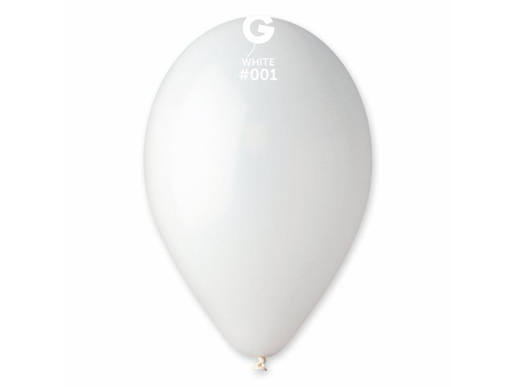 Balon pastelat alb