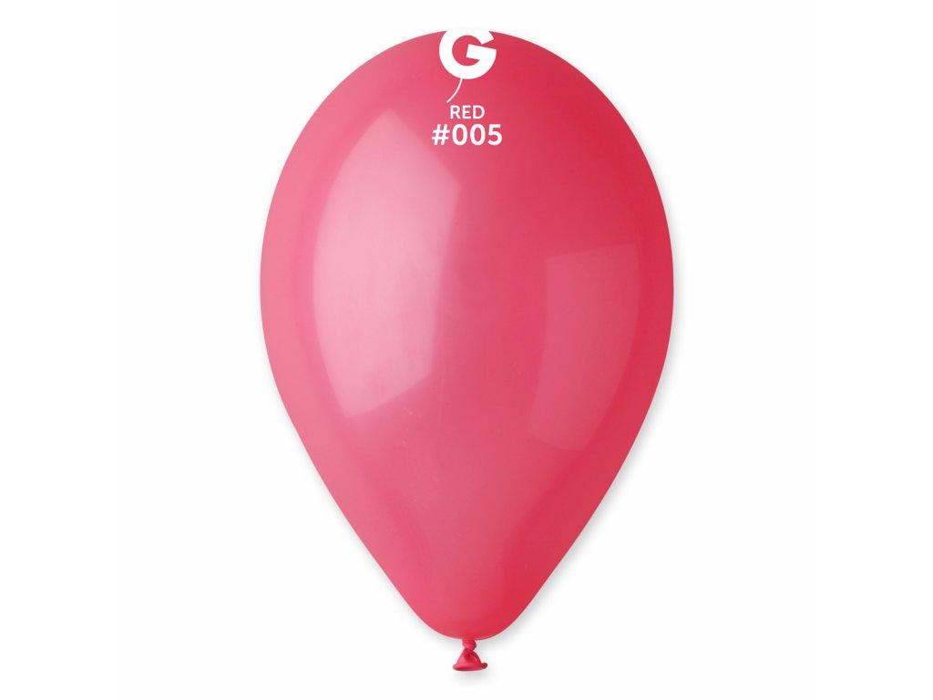 Balon pastelat culoarea roşu