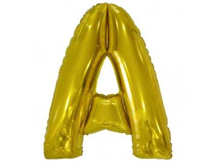 Balon din folie litera A 86 cm auriu