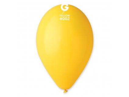 Balon pastelat galben