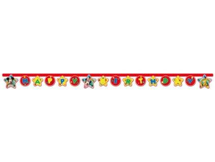 Baner Happy Birthday Mickey Mouse