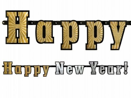 Banner Happy New Year holografic