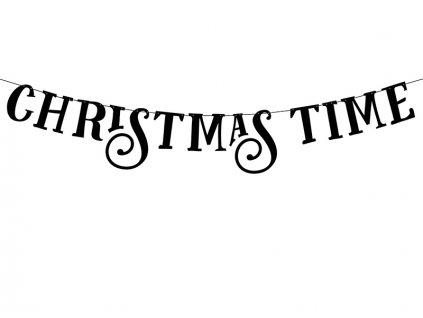 Banner Christmas time 14 x 80 cm