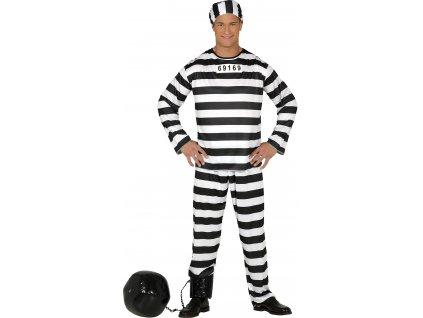Kostým väzňa (Mărimea - Adult L)
