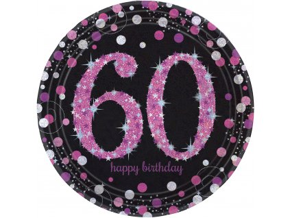 33962 taniere 60 narodeniny trblietava ruzova