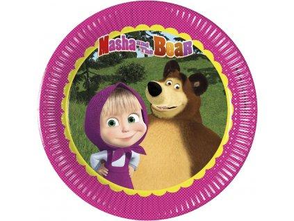 MASHA & THE BEAR PLATE 20cm ICON