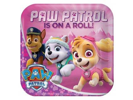 Farfurii Patrula căţeluşilor (Paw Patrol) roz 8 buc