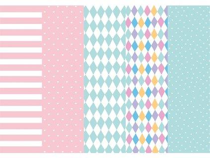 Hârtie pentru împachetat colorată mix