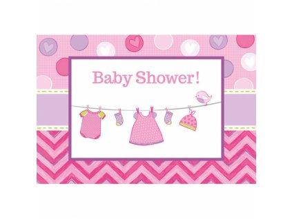 29703 pozvanky baby girl 8 ks