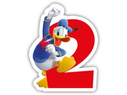 Lumânare pentru zi de nastere Mickey Mouse - cifra 2