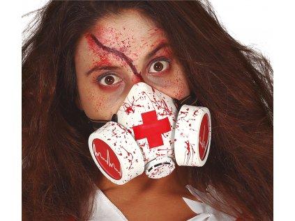 Mască sângeroasă cu gaze