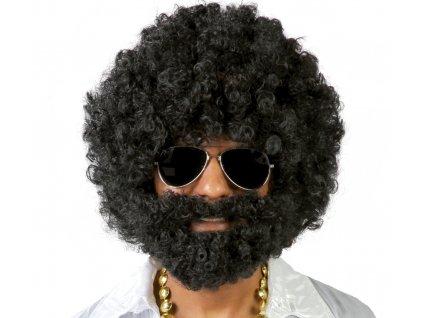 Perucă Afro cu barbă