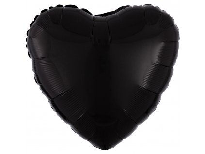 47621 foliovy balon srdce cierne 43 cm