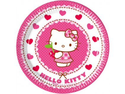 HELLO KITTY HEARTS PLATE 20 CM