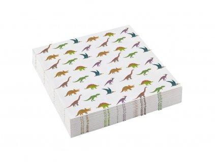53618 servitky stastny dinosaurus 25 x 25 cm 20 ks