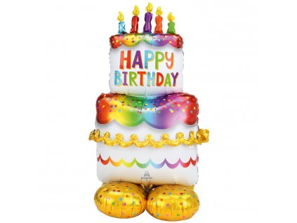 58446 foliovy balon narodeninova torta airloonz
