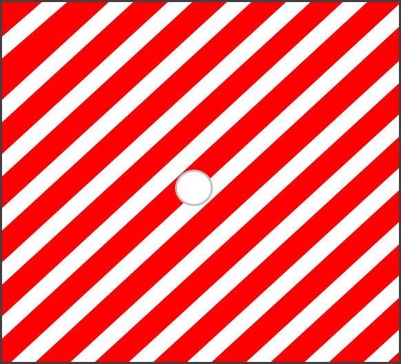 Červená pruhovaná