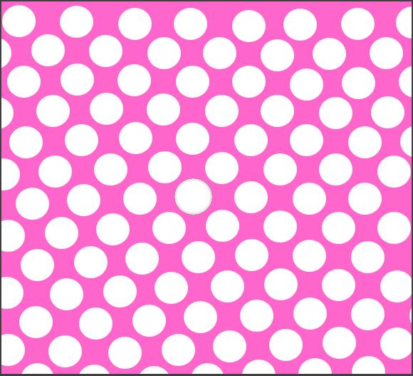 Ružová bodkovaná