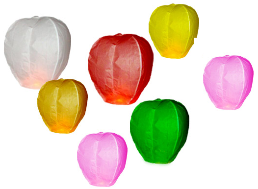 Lietajúce lampióny - lampióny šťastia