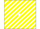 Žltá pruhovaná