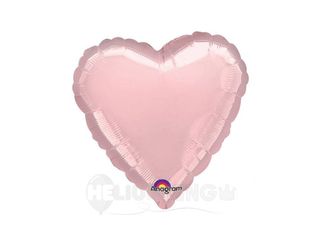 Fóliový balónik srdiečko ružový