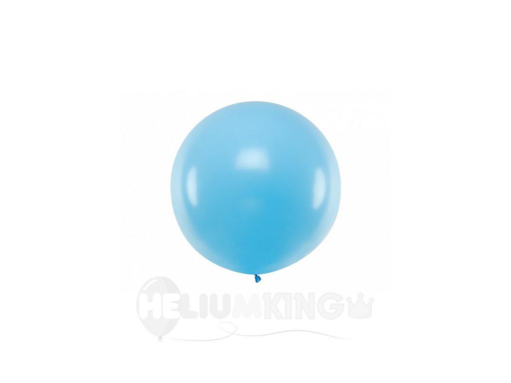 Guľatý latexový Jumbo balón 1m svetlomodrý