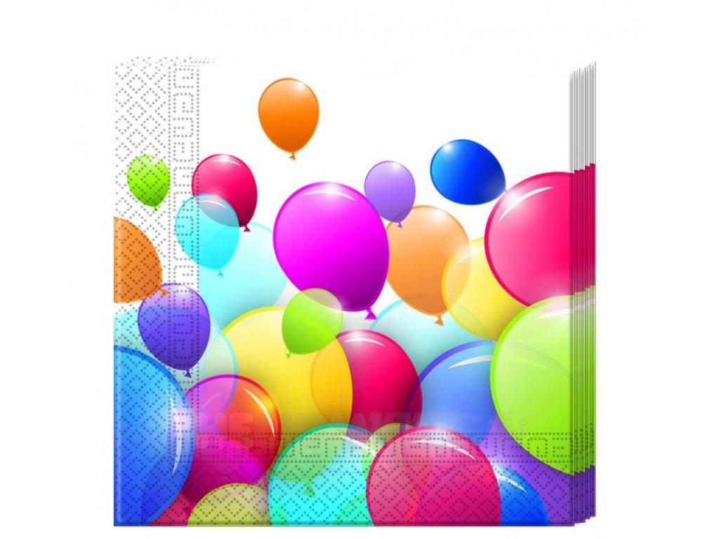 Servítky Balóny 33 x 33 20 ks