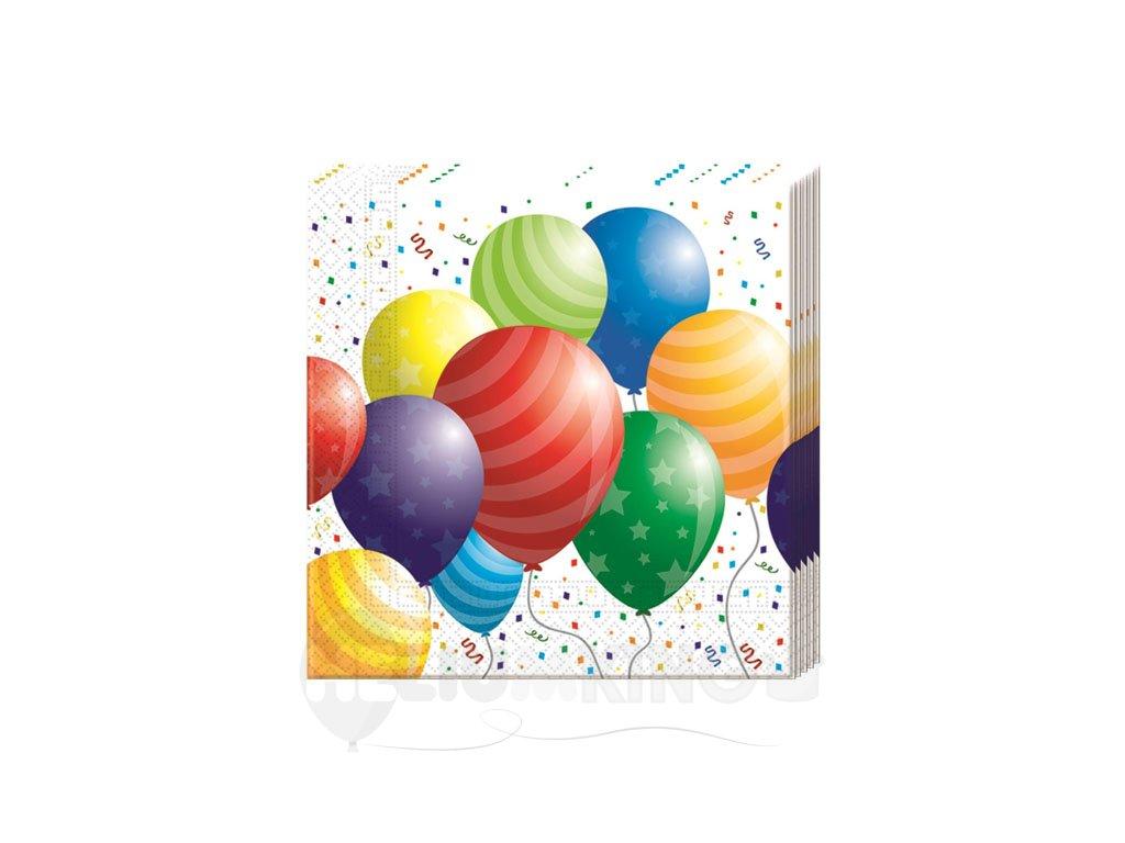 Servítky Balónová párty 33 x 33 20 ks