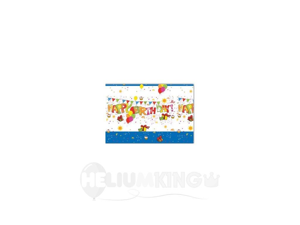 Obrus Happy Birthday 120 x 180 cm