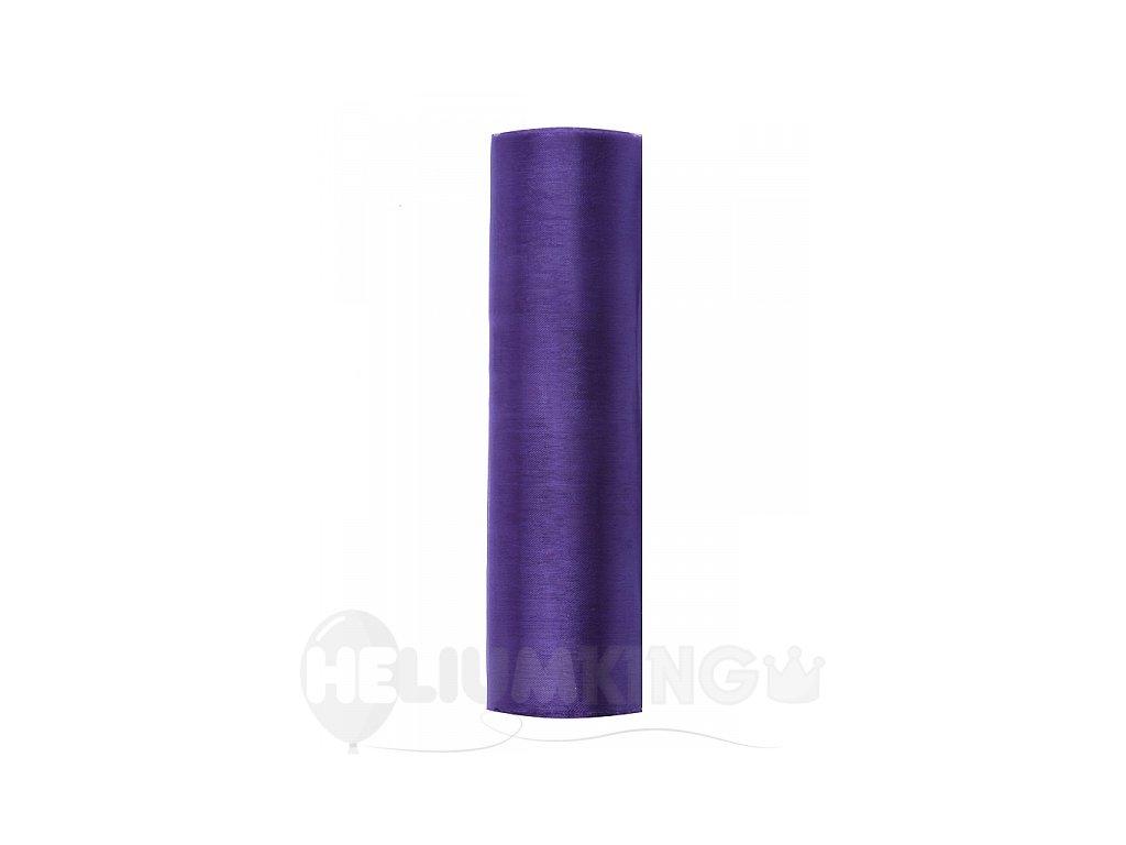 Organza fialová 16cm x 9m