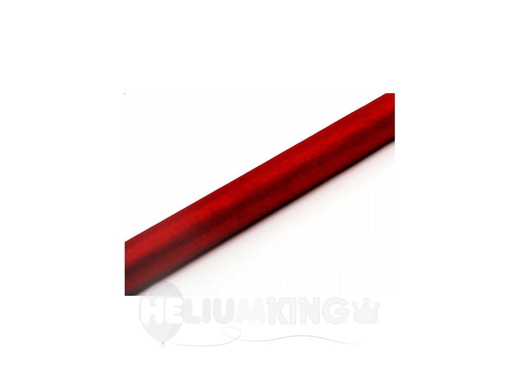 Organza červená 36cm x 9m