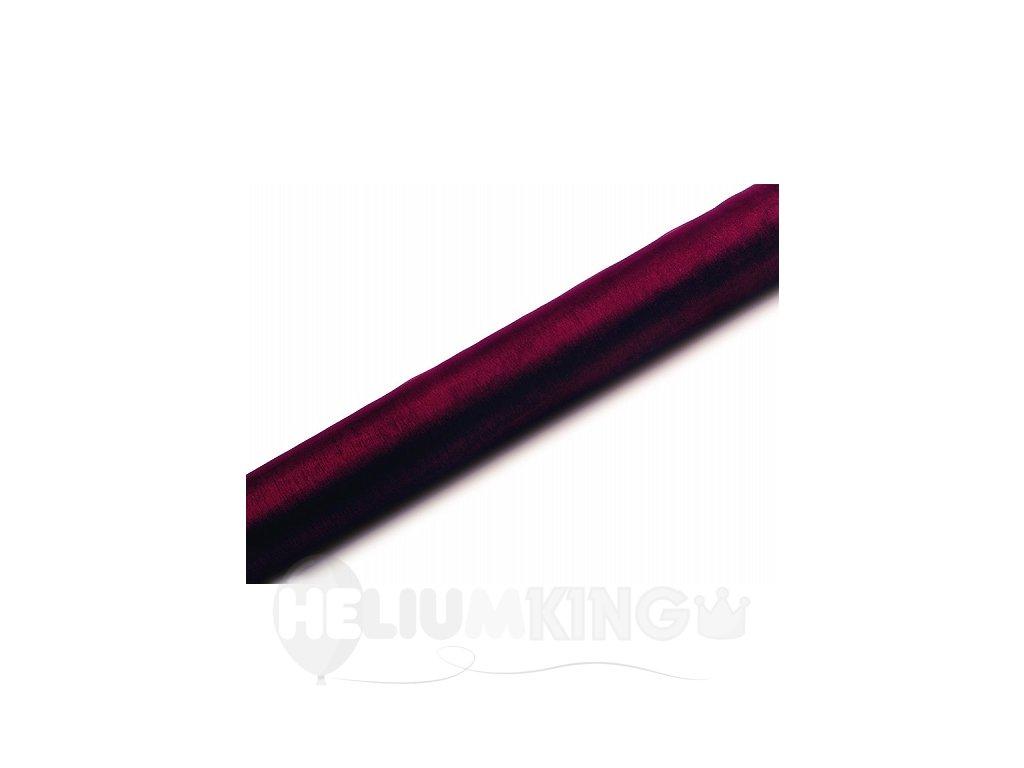 Organza tmavočervená 36cm x 9m