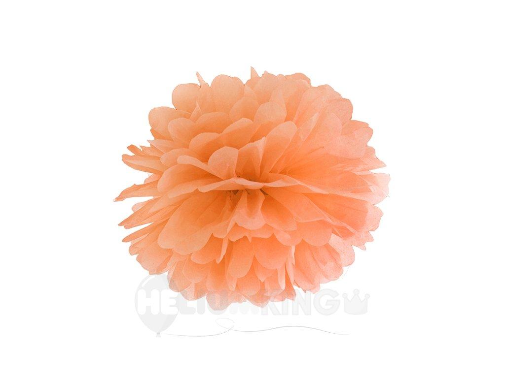 Pompom v tvare oranžového kvetu 35 cm