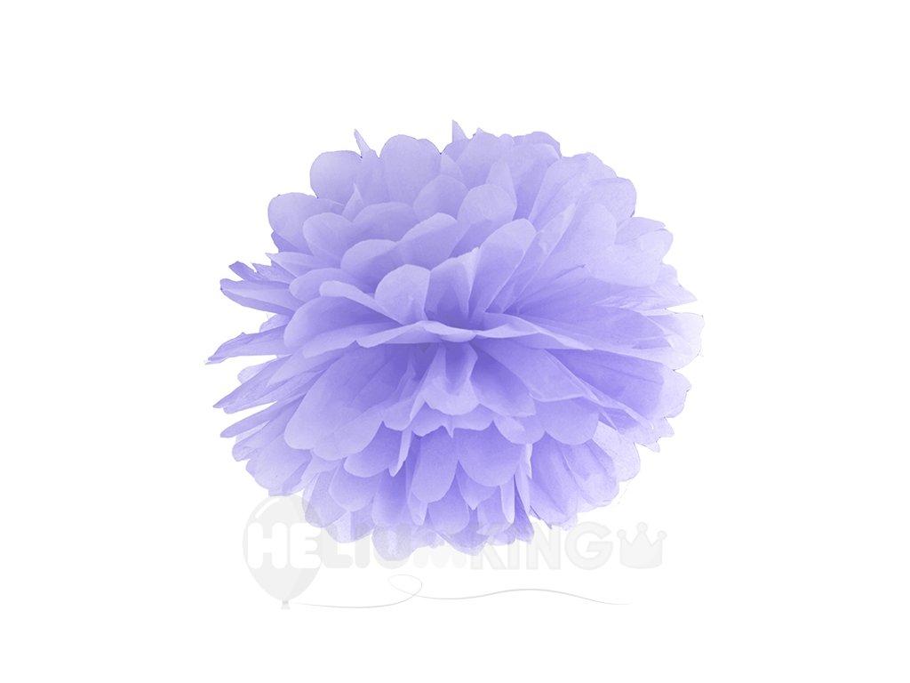 Pompom v tvare kvetu levanduľový 35 cm