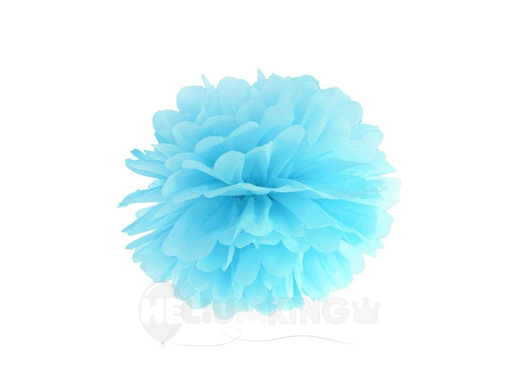 Pompom v tvare modrého kvetu 35 cm