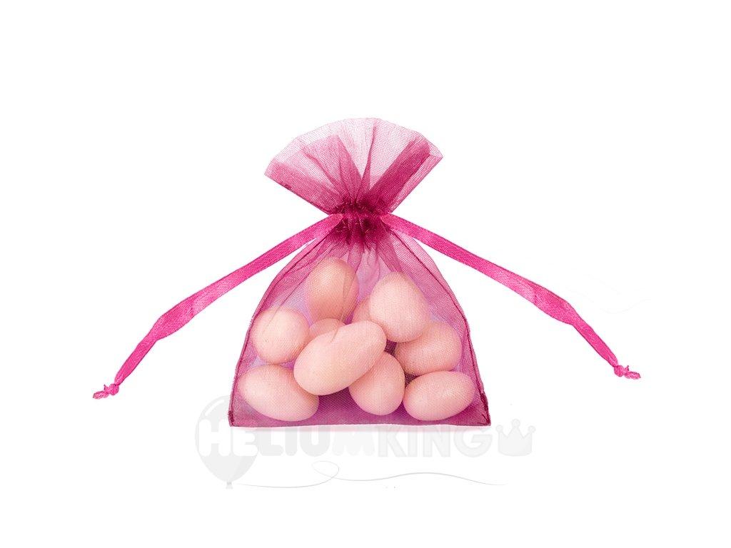 Organzové vrecúško teplé ružové