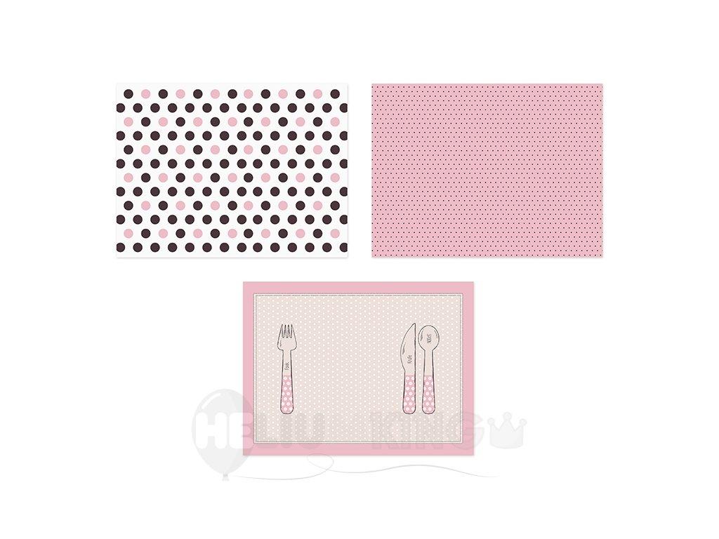 Prestieranie papierové ružové 40 x 30 cm 6 ks