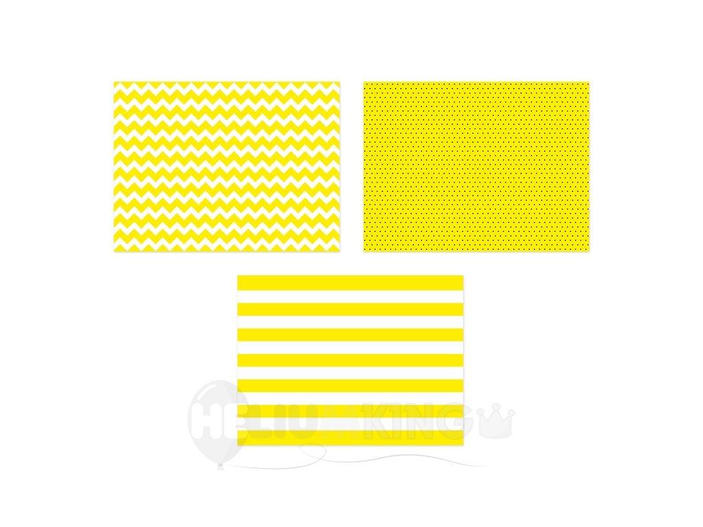 Prestieranie papierové žlté 40 x 30 cm 6 ks