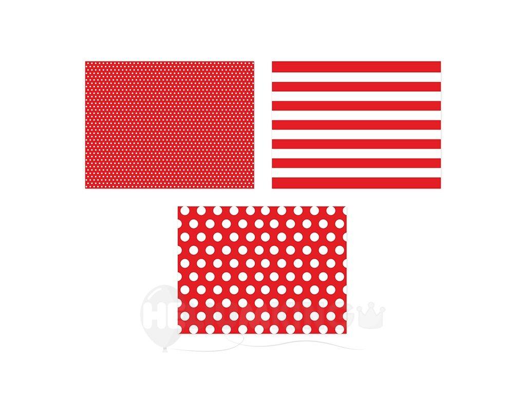 Prestieranie papierové červené 40 x 30 cm 6 ks