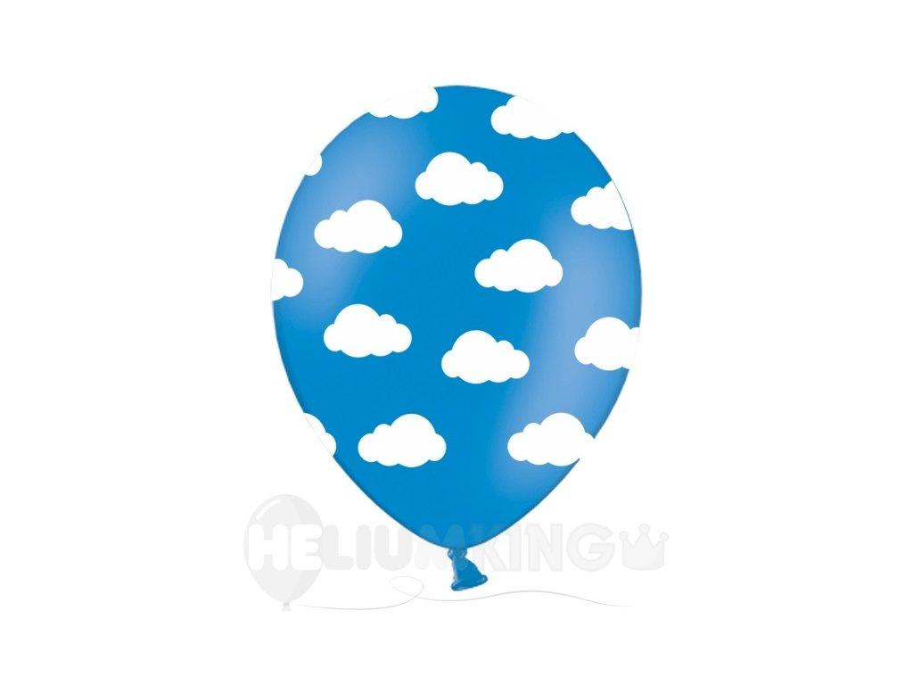 Balon oblaky modry