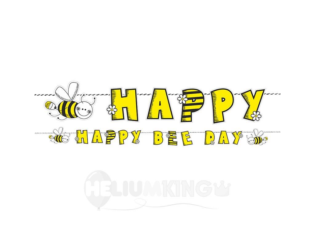 Narodeninový transparent včielka
