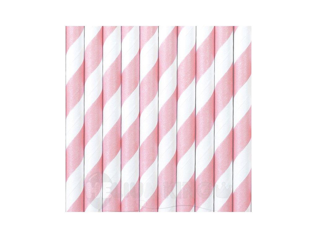 Papierové slamky svetloružové 10 ks - HeliumKing.sk 15c4d975b63