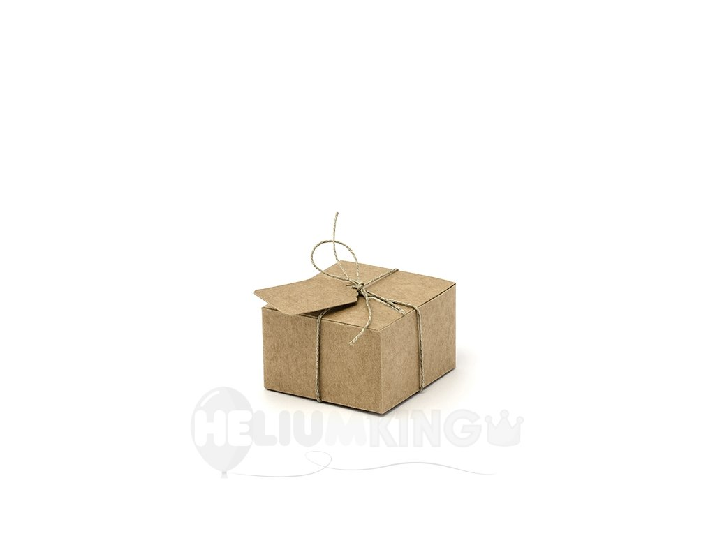 Krabicka zo stitkom hneda