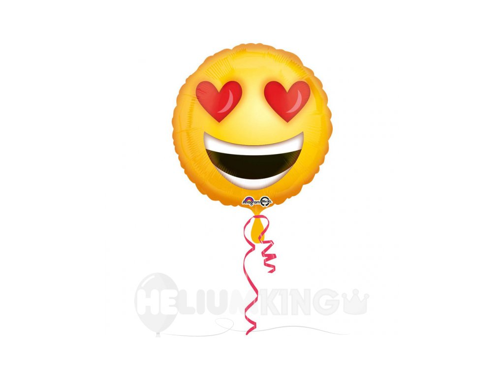 Foliovy balon zamilovany emotikon