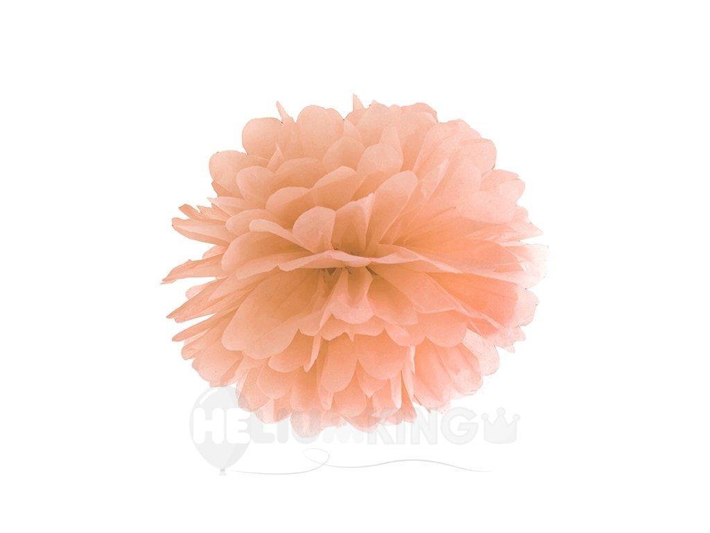 Pompom v tvare kvetu broskyňový 35 cm