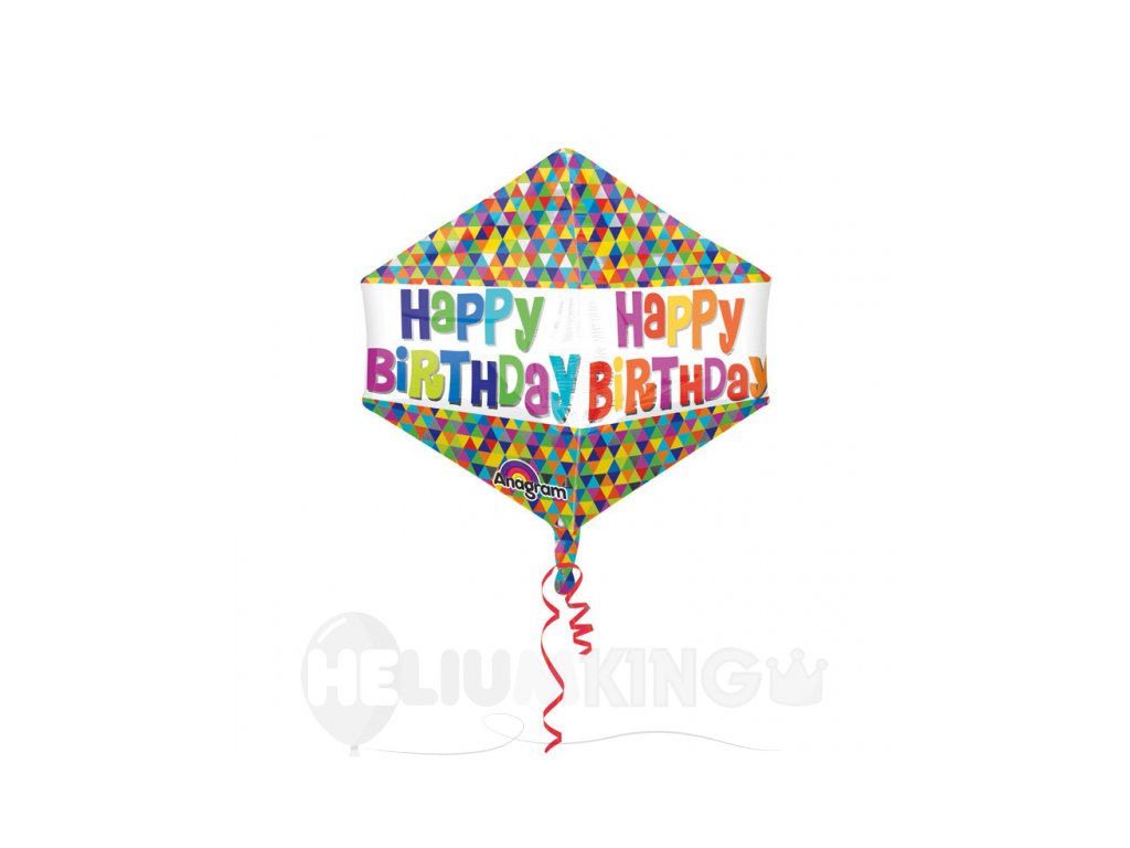 Foliovy balon Happy birthday Geo
