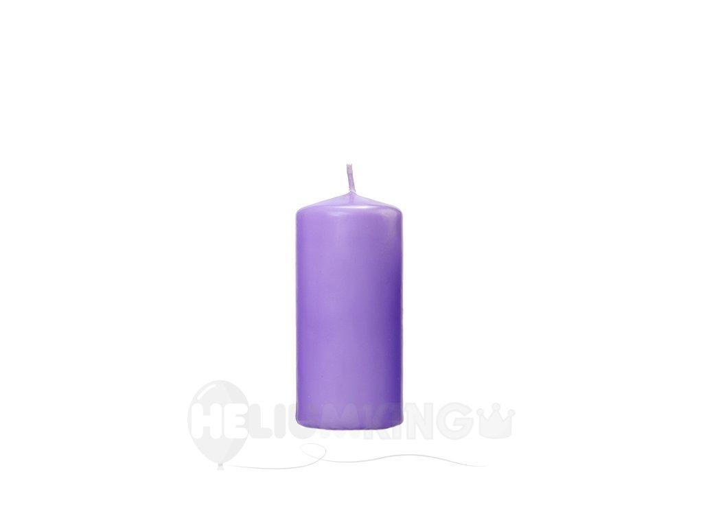 Valcová sviečka matná - levanduľová 1 ks