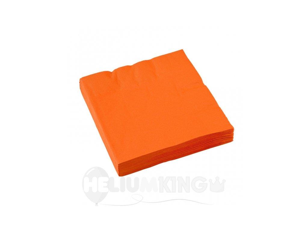 Servítky oranžové 33x33 cm