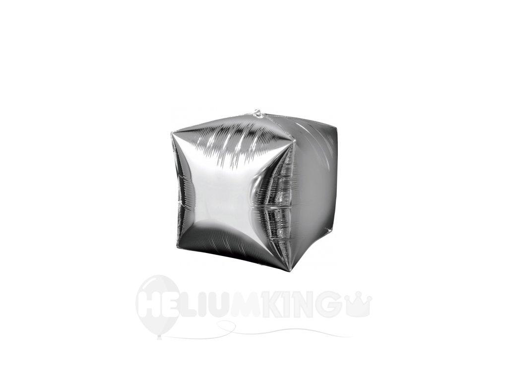 Foliovy balon Kocka strieborny